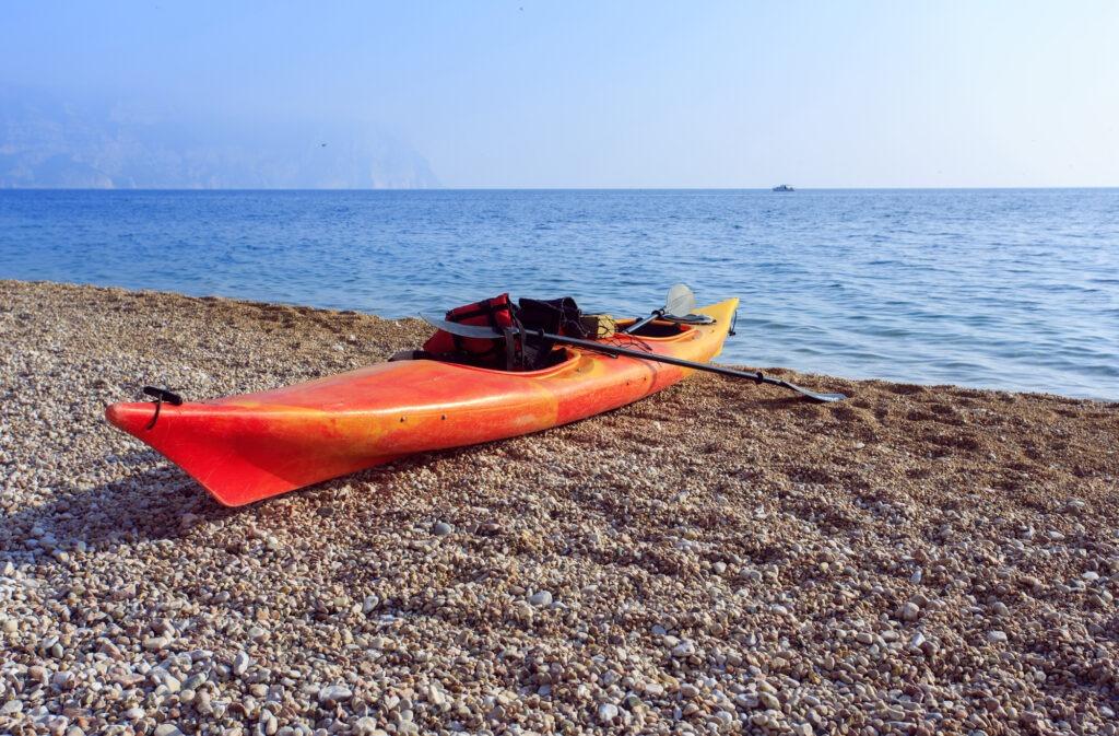 Kayaking in Crimea. Balaklava Vasili beach. Hiking.